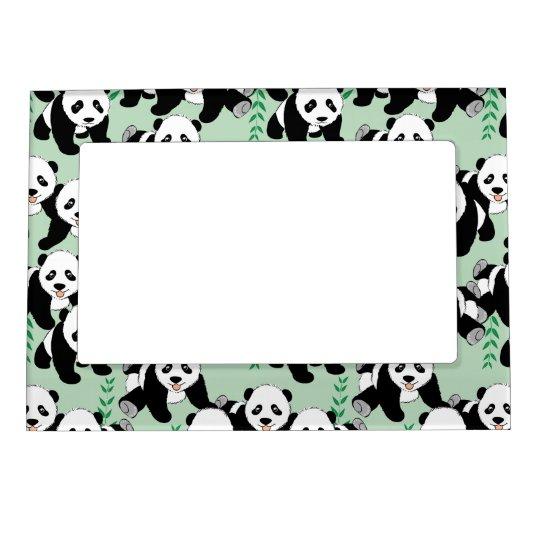 Panda Bears Graphic Magnetic Frames