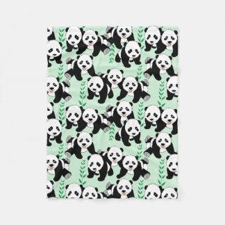 Panda Bears Graphic Pattern Fleece Blanket