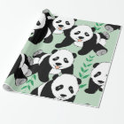 Panda Bears Graphic Wrapping Paper