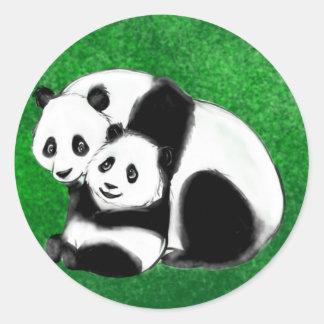 Panda Bears.jpg Classic Round Sticker