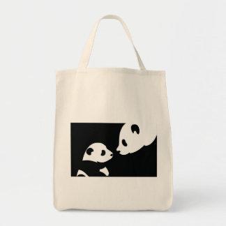 panda bears stamp tote bag