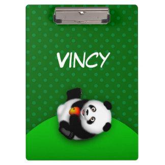 """Panda Bon Bon 12.5""""l x 9""""w Clipboard"""