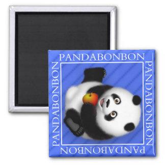 Panda Bon Bon 2 in x 2 in Magnet