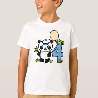 Panda Boy 4th Birthday T-Shirt