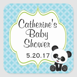 Panda Boy Baby Shower Stickers