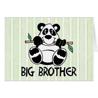 Panda Boy Big Brother Stationery Note Card