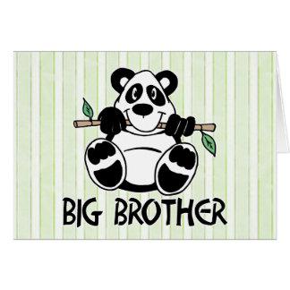 Panda Boy Big Brother Note Card