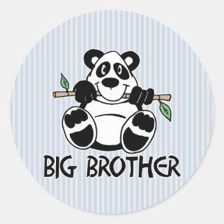 Panda Boy Big Brother Round Sticker