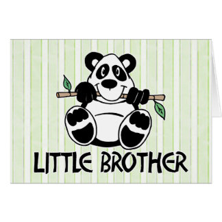 Panda Boy Little Brother Note Card