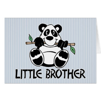 Panda Boy Little Brother Greeting Cards