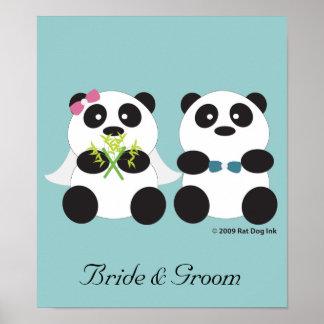 Panda Bride and Groom Poster