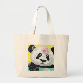 Panda Bubbles Large Tote Bag