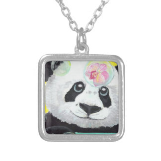 Panda Bubbles Silver Plated Necklace