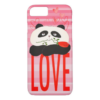Panda Cartoon Cute Romantic Love Heart Girly Sweet iPhone 8/7 Case