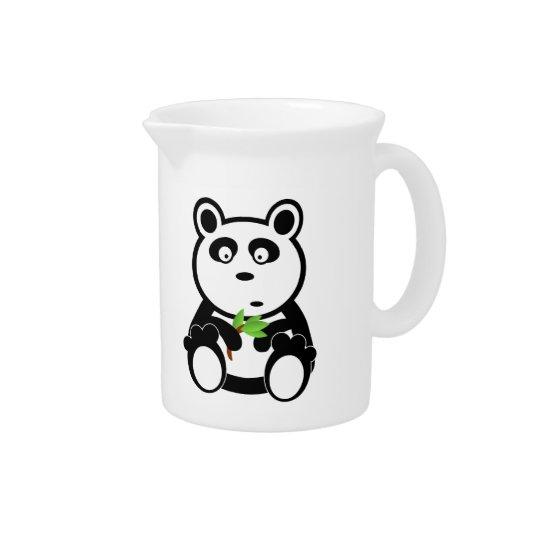 Panda cartoon pitcher