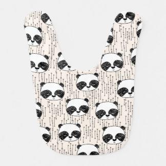 Panda - Champagne Black White / Andrea Lauren Bib