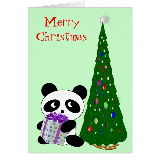 Panda Christmas Card