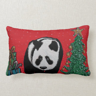 Panda Christmas Throw Pillow