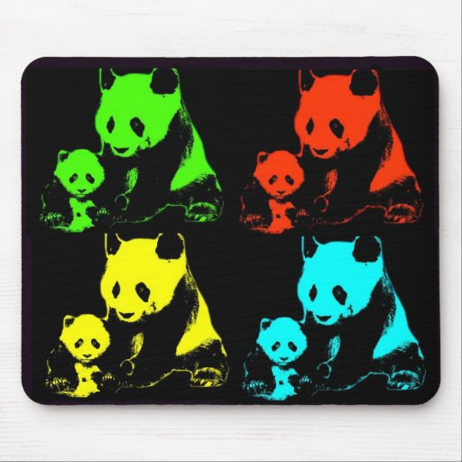 Panda Collage Mouse Pad