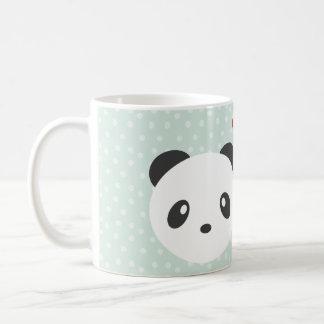Panda couple basic white mug