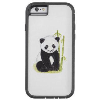 Panda cub bamboo trees watercolor painting tough xtreme iPhone 6 case
