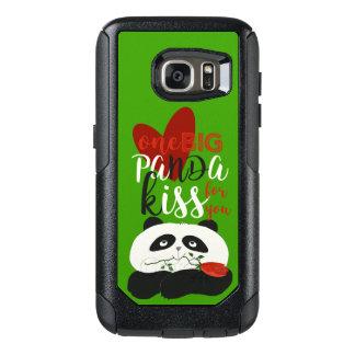 Panda Cute Romantic Love Flower Cartoon Girly Gree OtterBox Samsung Galaxy S7 Case