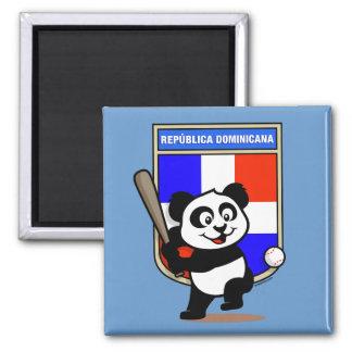 Panda de base-ball de la République Dominicaine Aimant Pour Réfrigérateur