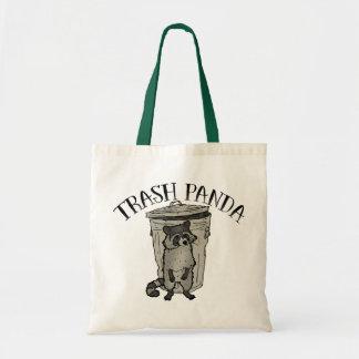 Panda de déchets de raton laveur sac en toile budget