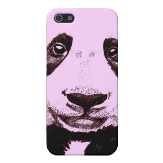 Panda Drawing (light red) iPhone 5 Cases