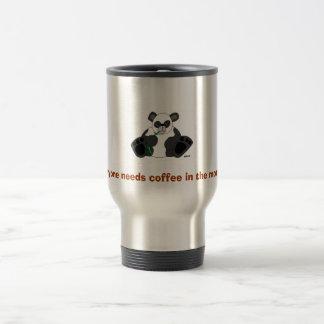 panda_drawing_st5, Everyone needs coffee in the... Travel Mug