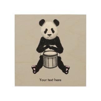 Panda Drumming Wood Canvases