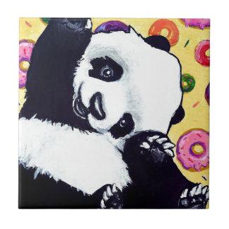 Panda Eat These Donuts Ceramic Tiles