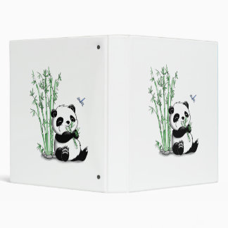 Panda Eating Bamboo 3 Ring Binders