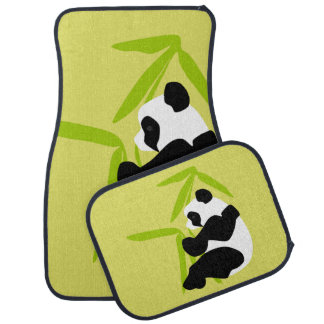 Panda Eating Bamboo Car Mat