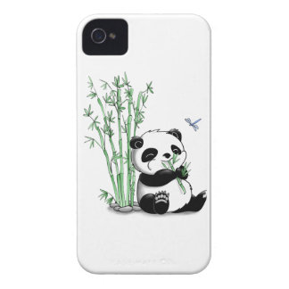 Panda Eating Bamboo iPhone 4 Cases