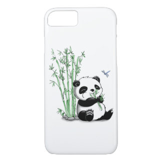 Panda Eating Bamboo iPhone 8/7 Case