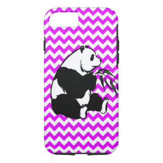 Panda Eating Bamboo Perfectly Pink Chevron iPhone 7 Case