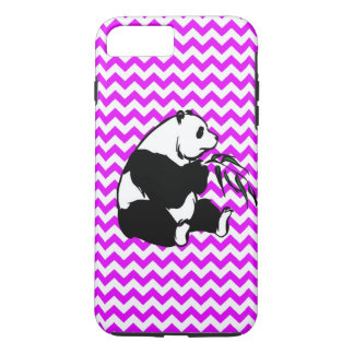 Panda Eating Bamboo Perfectly Pink Chevron iPhone 7 Plus Case