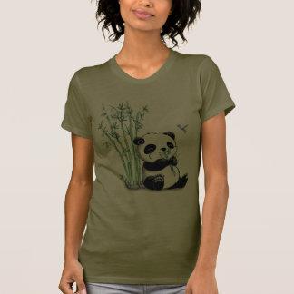 Panda Eating Bamboo Tshirts