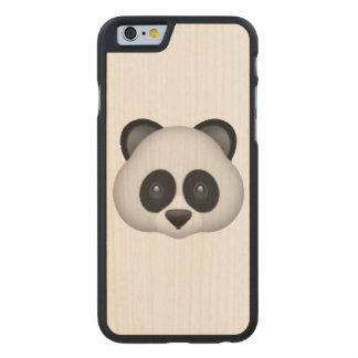 Panda - Emoji Carved Maple iPhone 6 Case