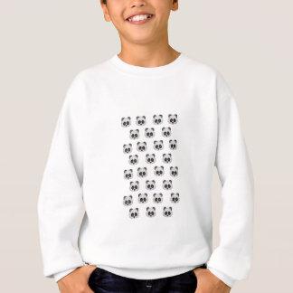 Panda Emoji in Glitter Sweatshirt