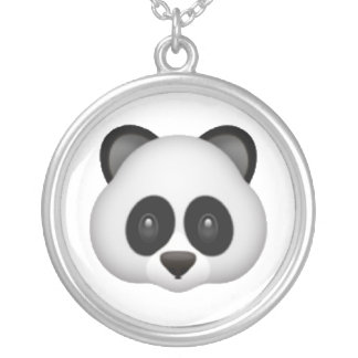 Panda - Emoji Silver Plated Necklace