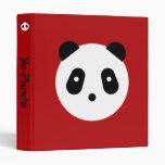 Panda Face 3 Ring Binders