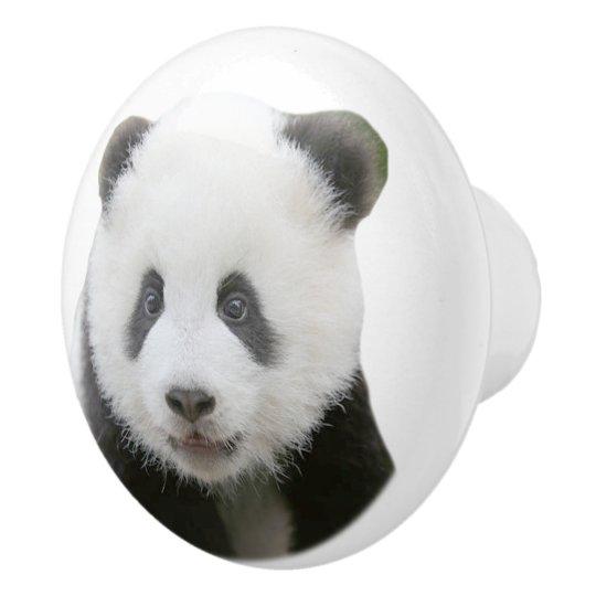 Panda Face Ceramic Knob