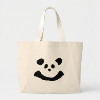Panda Face Large Tote Bag