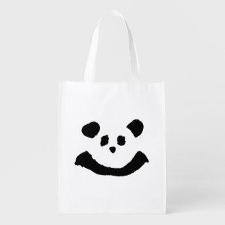 Panda Face Reusable Grocery Bag