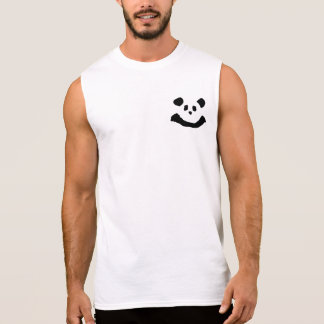 Panda Face Sleeveless Shirt