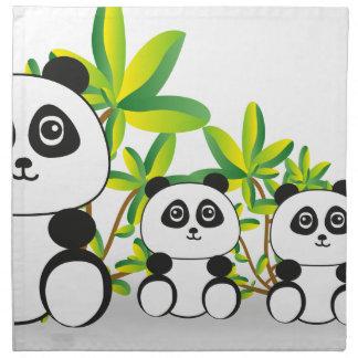 Panda Family Napkin