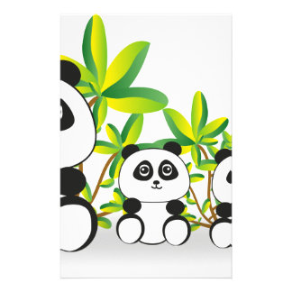 Panda Family Stationery