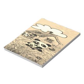 Panda farm notepad